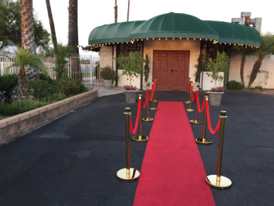 Red carpet entrance for Birtthday Party